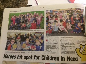 Our feature in the papers.